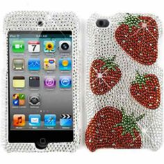 CellTx Slim Line Rhinestone Case For Apple (iPod iTouch 4) Case Sparkle Hard Cover (Strawberries, Red, White) CellTx http://www.amazon.com/dp/B00YTW88WW/ref=cm_sw_r_pi_dp_C-1Evb1DDHPH2