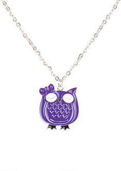 Purple Enamel Owl - View All Accessories - Accessories - dELiA*s