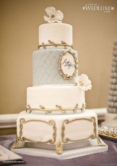 Luxury Glamorous white silver and blue wedding cake Cupcakes, Cupcake Cakes, Gorgeous Cakes, Pretty Cakes, Amazing Wedding Cakes, Amazing Cakes, Luxury Wedding Cake, Mod Wedding, Blue Wedding
