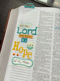 Notions from Nonny: Journaling Bible : Psalm 39:7