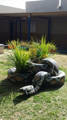 Snake made from old tires