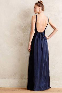 Make a statement in a navy maxi dress.