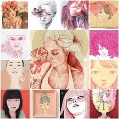 Pink portrait mosaic  Source: flickr.com
