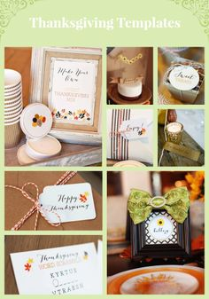 Our printable Thanksgiving invitations, place cards, menu labels, kids' crafts and favor tags will add the finishing touch to your fall festivities>>  http://www.hgtv.com/handmade/16-printable-and-free-thanksgiving-templates/index.html?soc=pinterest