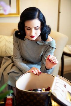 "Beauty Tell-all: A Visit With Dita Von Teese - Dita says she has her mother to thank for her skin. ""She's 55 but looks 30."""