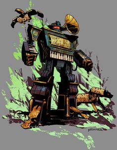Old West Decepticon /// by Brian Kesinger