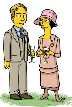 """Matthew Crawley and Lady Mary Crawley. 