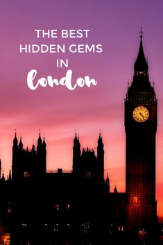 If you're looking for something new to do on a second, third or fourth visit, here's a list of some of London's best hidden gems. #travel #london