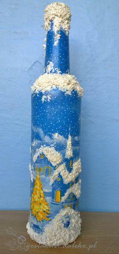 candle holder - decoupage