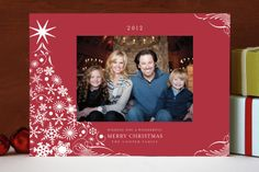 Snowflake Tree Christmas Photo Cards by Pixie Stic... | Minted