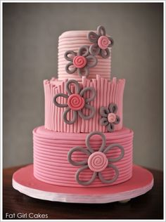 fun... would still be cute with buttercream instead of fondant. And chocolate flowers