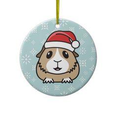 Cartoon Guinea Pig Christmas Round Ornament http://www.zazzle.com/popcornprints/gifts?cg=196649862742024937&rf=238205274887202706