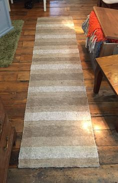 Spinning Shreds beige Runner | 65x200 cm. | 22″ x 67″ | 65x230 cm 22″ x 76 Inches  Brings the harmony and crisp feeling to any interior design.  Spinning Shreds rugs are completely hand-crafted product made entirely from materials recycled from scraps of fabric of the textile industry. Our product is made mainly of cotton, which sometimes gets to be almost 100% of the material composition. After the recycling process, The recycled threads are turned into strips through looping process. Then…