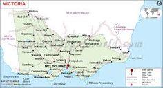 victoria map map of victoria state australia