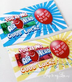 candy-gram ideas for testing days