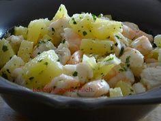 Crevettes à l'ananas pour l'apéro
