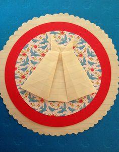 Handmade origami dress card #origami #handmade #cards #crafts