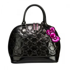 shoulder bags  Hello Kitty Black Patent Embossed Large Tote Bag by Loungefly fa1582086b301