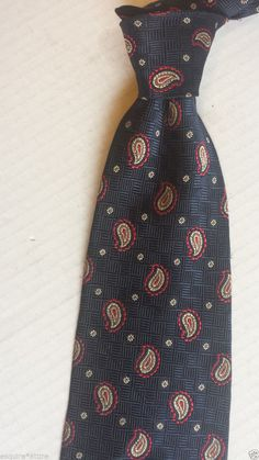Vienicci  #silk neck dress men tie NWT blue with paisley pattern (USA) Retail $25 visit our ebay store at  http://stores.ebay.com/esquirestore
