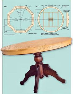 Round Dining Table Plans - Furniture Plans