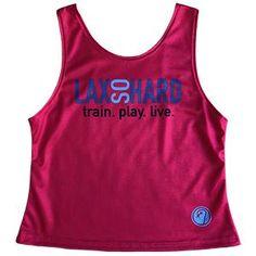LAX SO HARD Girls Rainbow Lacrosse Racer Tank