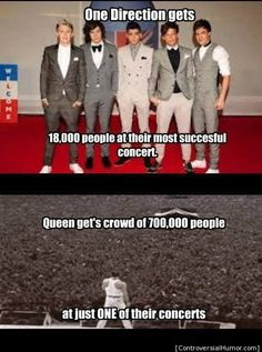 One Direction v. Queen - http://controversialhumor.com/one-direction-v-queen/ #Music, #OneDirection, #Queen