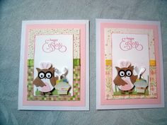Easter cards with SU owl punch