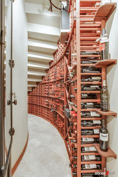 Wine cellar room under the staircase