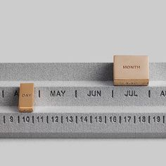 Perpetuum Calendar By Studio Yonoh for OTHR  Embrace timelessness with a calendar that never runs out. Base is 3D printed in fabric-like plastic, with 14K gold-plated timepieces. Numbered edition.  #3dprint