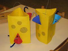 Knutselen 3d: lampion kaas met muizen