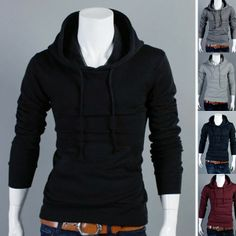 Men's Fashion Slim Sweatshirt Hoodies Sweater via martEnvy. Click on the image to see more!