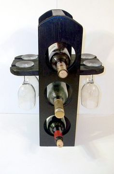 Exclusiva botellero copas estante en acabado por MichelleNapier