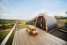 Eco-powered exclusive ruralvalley glamping - complete with friendly neighbourhood sheep! - in the scenicPeak District.Always wanted to try glamping, but worried it might be a little toocrowded. City Of Derby, Glamping Uk, Garden Pods, Peak District, Travel Magazines, Derbyshire, Campsite, The Guardian, Sun Lounger