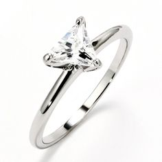 The Trillion Cut Sterling Silver Solitaire