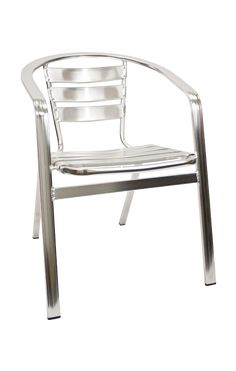 Restaurant Furniture Aluminum Stack Chair with Armrest (Outdoor Restaurant Chairs)  - OutDoor Furniture-Outdoor Chair Made for indoor and outdoor use, this chair is also an excellent choice for your home or your business. It is lightweight yet very durable and stackable.