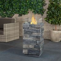 Shop For Fire Columns Online At Target Free Shipping On Purchases Over 35 And Save 5 Every Day With Your Outdoor Fire Pit Real Flame Outdoor Fire