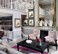 Beautiful photos of Tim and Kit Kemp's home decor inside their London townhouse, and some of their Firmdale Hotel properties in New York and London...