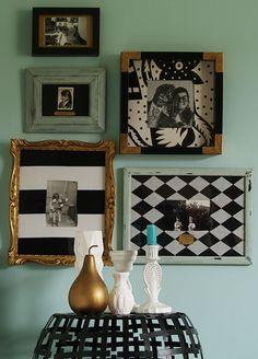 Zrób to sama: Prosty i tani sposób na odmianę wyglądu starych ramek — InteriorsPL