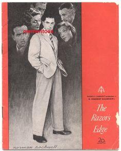 The Razors Edge, Norman Rockwell, Theatre, Opera, Cinema, Film, Artwork, Movie Posters, Movie