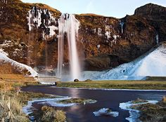 Waterfall Seljalandsfoss at dusk | This waterfall is called … | Flickr