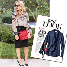 #InspiredByInStyle: Reader of the Week Kristie Cohen on How to Rock a Tie-Neck Blouse from #InStyle