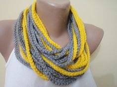 Infinity scarf chain loop scarf crochet scarf by BloomedFlower, $19.00 Ahhhh hhaaa  A Rosey request - what colors??