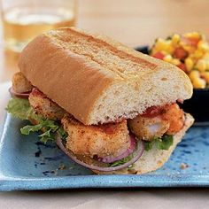 Shrimp Po'boy with Spicy Ketchup | CookingLight.com