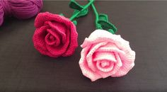 How To Crochet A Rose: Easy Crochet lessons to crochet flowers. Crochet videos on How to Crochet a Rose. Simple crochet for beginners or even experienced crocheters that would love to crochet flowers. Part 1:1 shows you how to make the Rose Petals.