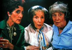 Dot, Ethel and Lou played by June Brown, Gretchen Franklin and Anna Wing. Iconic Characters, Book Characters, Eastenders Cast, Life In The Uk, Soap Stars, Bbc Tv, The Duff, Back In The Day, Film Movie