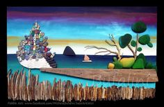 € 800 - on commission Each creation is a unique piece made and hand painted. I often work on commission, on request I repeat also the subjec. Pebble Painting, Pebble Art, Stone Painting, Sea Glass Mosaic, Sea Glass Art, Stone Crafts, Rock Crafts, Coral Art, Bamboo Art