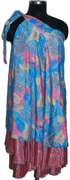 Vintage sari silk skirts