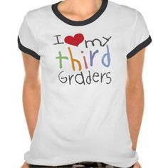 Love My Third Graders Ladies Ringer T-Shirt  Click on photo to purchase. Check out all current coupon offers and save! http://www.zazzle.com/coupons?rf=238785193994622463&tc=pin