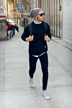 Moda masculina outfit casual jakkesæt, herremode y stil Streetwear, Mode Outfits, Casual Outfits, Fall Outfits, Stylish Men, Men Casual, Casual Winter, Mode Man, Style Masculin