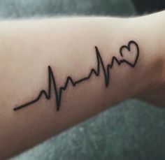 Cool heartbeat tattoo Names Tattoos For Men, Wrist Tattoos For Guys, Small Wrist Tattoos, Baby Tattoos, Foot Tattoos, Couple Tattoos, Body Art Tattoos, Heart Tattoos, Mini Tattoos